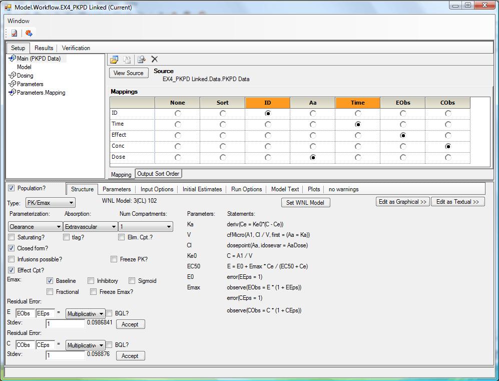 NLME Workflow Object