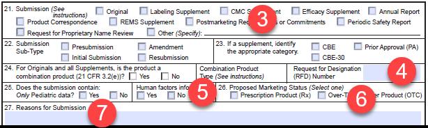 FORM FDA 356h items 21_27